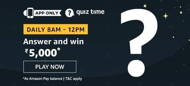 Amazon Quiz Win 5000 Rs