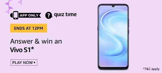 Amazon Quiz Answers Win Vivo S1