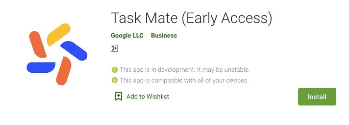 Google Task Mate App details