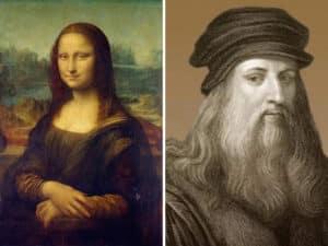 Leonardo Da Vinci and monalisa