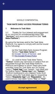 Task Mate Terms and Conditions