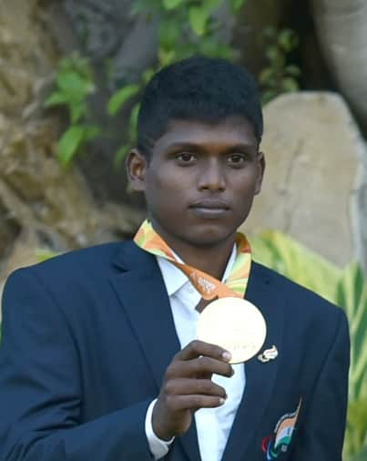 the only Paralympic gold medalist Mariyappan Thangavelu